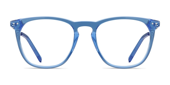 Distance Blue Acetate-metal Eyeglass Frames from EyeBuyDirect