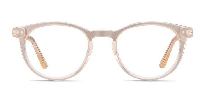 Traveller Clear Melon Acetate-metal Eyeglass Frames from EyeBuyDirect