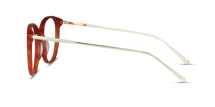 Oriana Orange Acetate-metal Eyeglass Frames from EyeBuyDirect