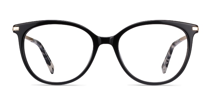 Attitude Black Acetate-metal Eyeglass Frames from EyeBuyDirect
