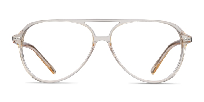 Viento Clear Yellow Acetate Eyeglass Frames from EyeBuyDirect