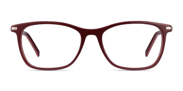 Field Burgundy Acetate-metal Eyeglass Frames from EyeBuyDirect