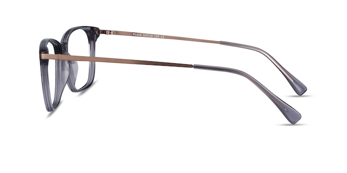 Plaza Gray Acetate-metal Eyeglass Frames from EyeBuyDirect