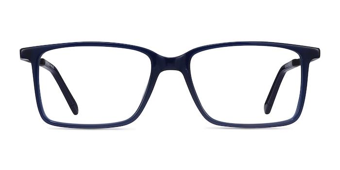 Haptic Blue Acetate-metal Eyeglass Frames from EyeBuyDirect