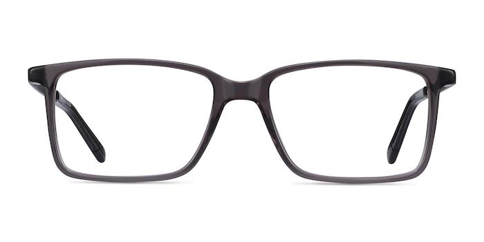 Haptic Gray Acetate-metal Eyeglass Frames from EyeBuyDirect