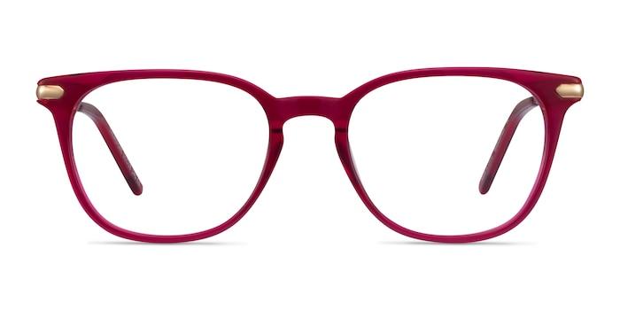 Therefore Raspberry Acetate-metal Montures de Lunette de vue d'EyeBuyDirect