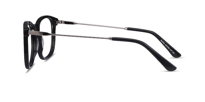 Ratio Noir Acetate-metal Montures de Lunette de vue d'EyeBuyDirect