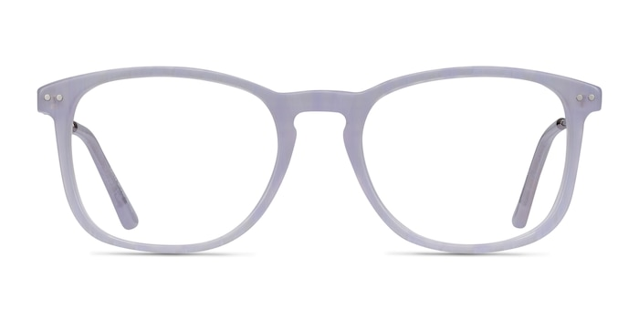 Ratio Purple Striped Acetate-metal Eyeglass Frames from EyeBuyDirect