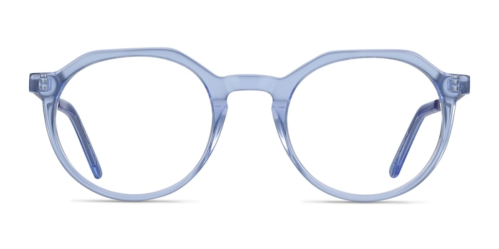 The Cycle Blue Acetate Eyeglass Frames from EyeBuyDirect