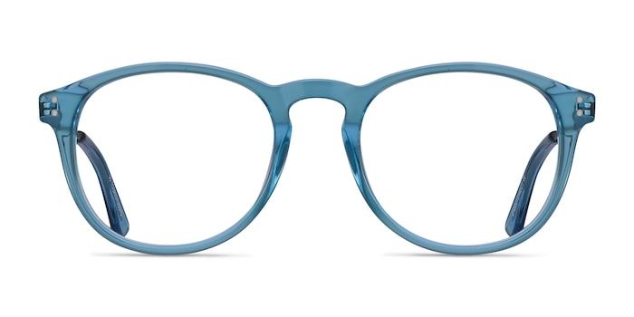 Akio Blue Acetate Eyeglass Frames from EyeBuyDirect