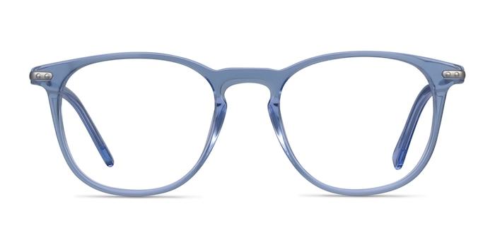 Villeneuve Blue Acetate-metal Eyeglass Frames from EyeBuyDirect