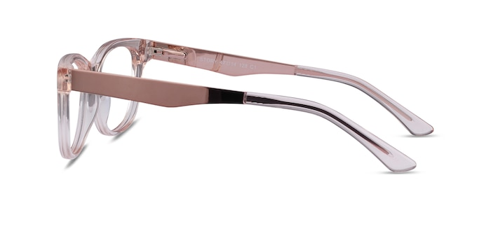 Story Clear Pink Acetate-metal Eyeglass Frames from EyeBuyDirect