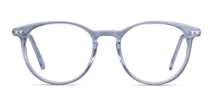Snap Clear Blue Acetate-metal Eyeglass Frames from EyeBuyDirect