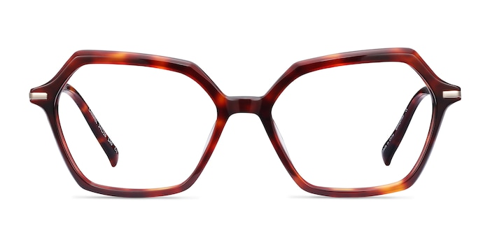 Carmel Tortoise Acetate-metal Eyeglass Frames from EyeBuyDirect