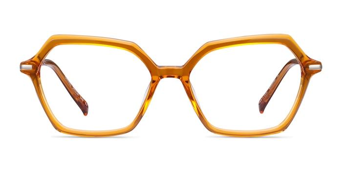 Carmel Mustard Acetate-metal Eyeglass Frames from EyeBuyDirect