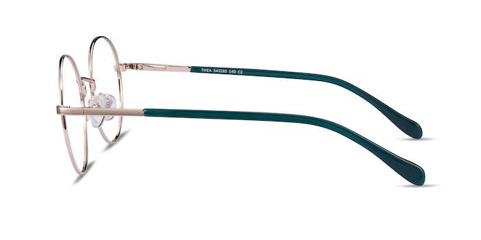 Thea Gold Acetate-metal Eyeglass Frames from EyeBuyDirect