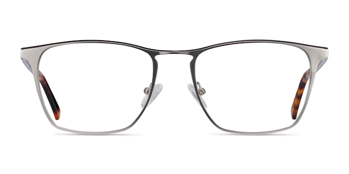 Jacob Silver & Tortoise Acetate-metal Eyeglass Frames from EyeBuyDirect