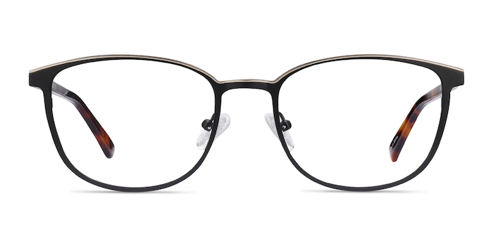 Guide Black & Tortoise Acetate-metal Eyeglass Frames from EyeBuyDirect