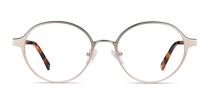 Observer Gold & Tortoise Acetate-metal Eyeglass Frames from EyeBuyDirect