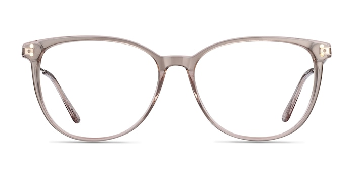 Nebulous Clear Brown Acetate-metal Eyeglass Frames from EyeBuyDirect