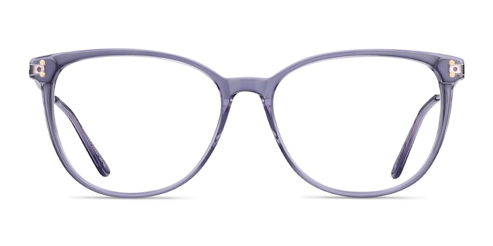 Nebulous Clear Purple Acetate-metal Montures de Lunette de vue d'EyeBuyDirect