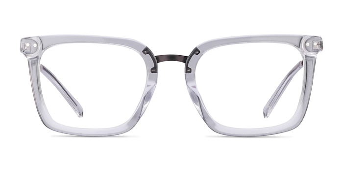 Poise Transparent Acetate-metal Montures de Lunette de vue d'EyeBuyDirect