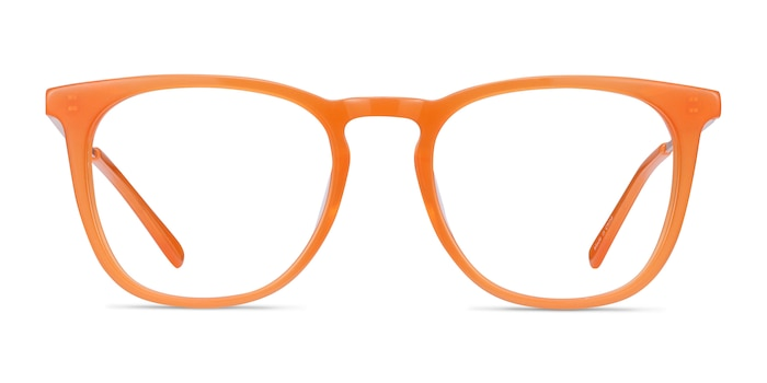 Vinyl Orange Acetate-metal Eyeglass Frames from EyeBuyDirect