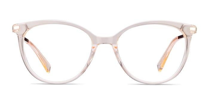 Attitude Clear Melon Acetate-metal Eyeglass Frames from EyeBuyDirect