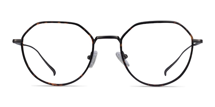 Huxley Tortoise  Gunmetal Metal Eyeglass Frames from EyeBuyDirect