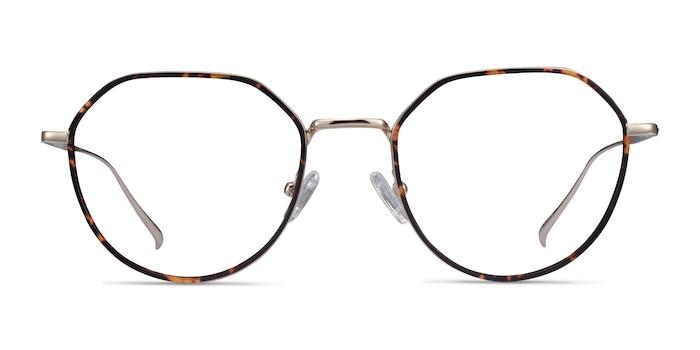 Huxley Tortoise  Golden Metal Eyeglass Frames from EyeBuyDirect