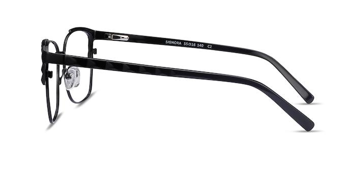 Signora Noir Acetate-metal Montures de Lunette de vue d'EyeBuyDirect