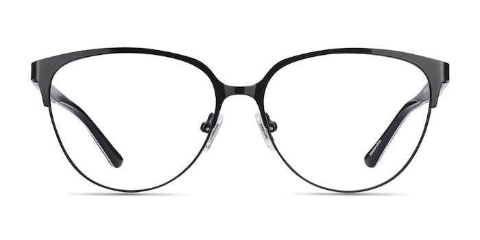 Marigold Black & Leopard Acetate-metal Montures de Lunette de vue d'EyeBuyDirect