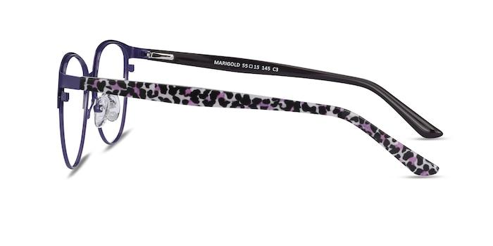 Marigold Purple & Leopard Acetate-metal Eyeglass Frames from EyeBuyDirect