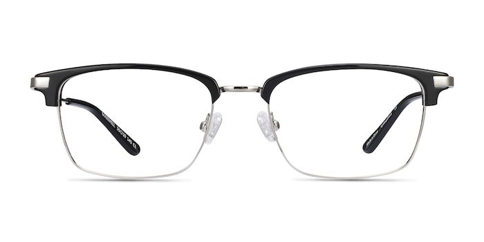 Maxwell Black Acetate-metal Eyeglass Frames from EyeBuyDirect