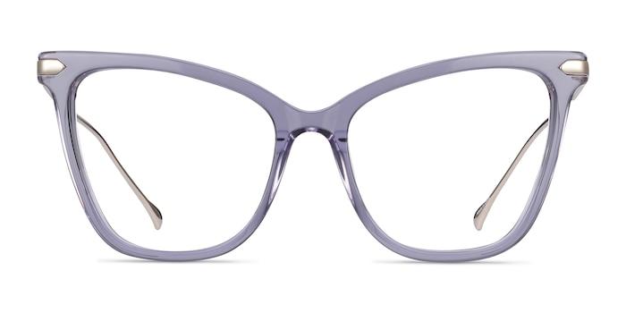 Domy Clear Purple Acetate-metal Eyeglass Frames from EyeBuyDirect