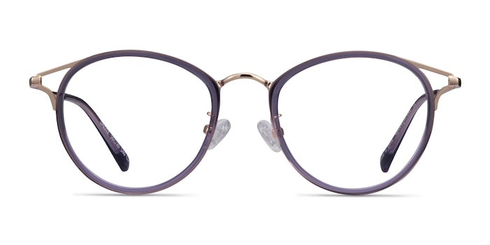 Dazzle Purple Acetate-metal Eyeglass Frames from EyeBuyDirect