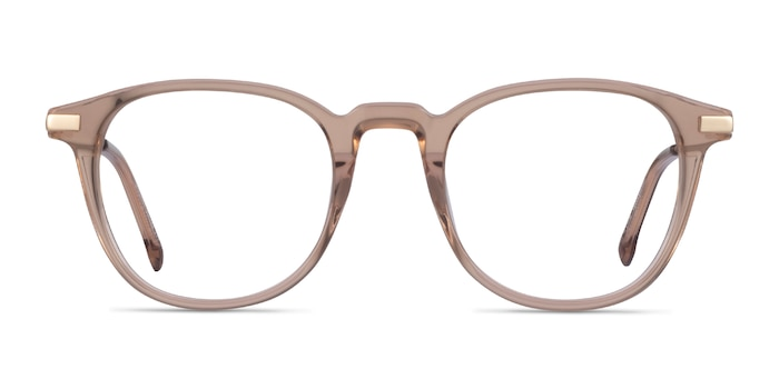Giverny Clear Brown Acetate Eyeglass Frames from EyeBuyDirect