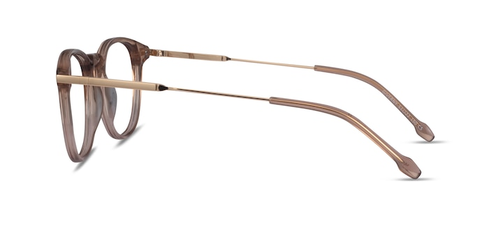 Giverny Clear Brown Acétate Montures de Lunette de vue d'EyeBuyDirect