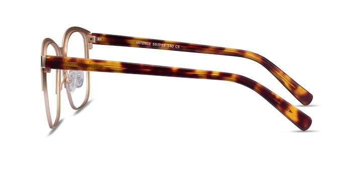 Intense Matte Gold Tortoise Acétate Montures de Lunette de vue d'EyeBuyDirect