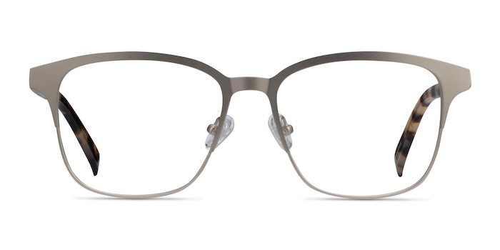 Intense Matte Silver Tortoise Acetate-metal Eyeglass Frames from EyeBuyDirect