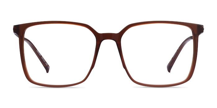 Easton Clear Brown Acetate-metal Eyeglass Frames from EyeBuyDirect
