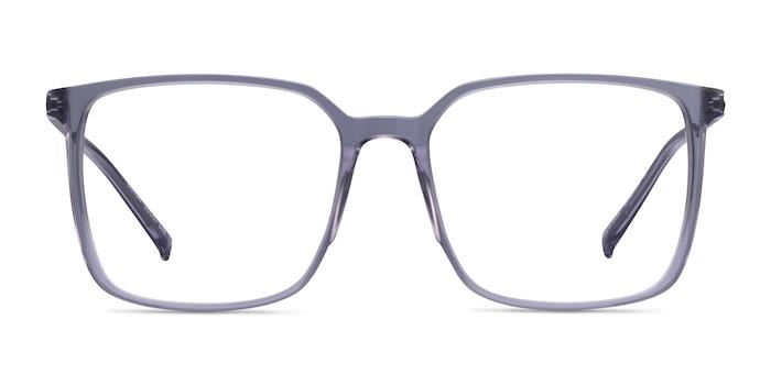 Easton Clear Gray Acetate-metal Montures de Lunette de vue d'EyeBuyDirect