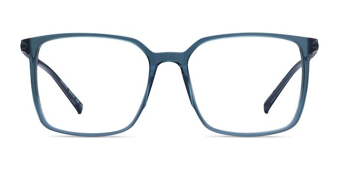 Easton Clear Blue Acetate-metal Montures de Lunette de vue d'EyeBuyDirect