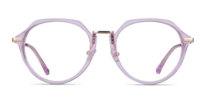 Tamara Clear Purple Acetate Eyeglass Frames from EyeBuyDirect