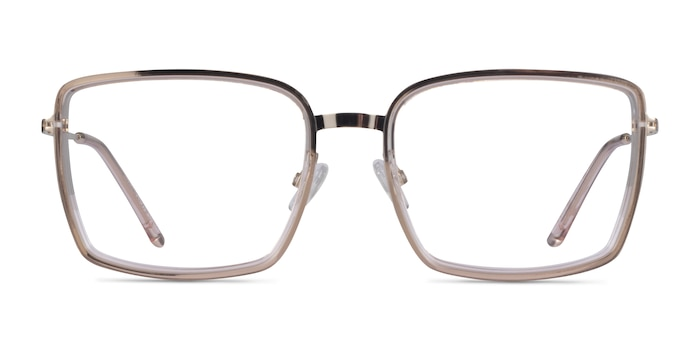 Remi Champagne Gold Acetate Eyeglass Frames from EyeBuyDirect