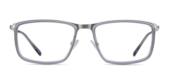 Kairo Clear Gray Silver Acetate Eyeglass Frames from EyeBuyDirect