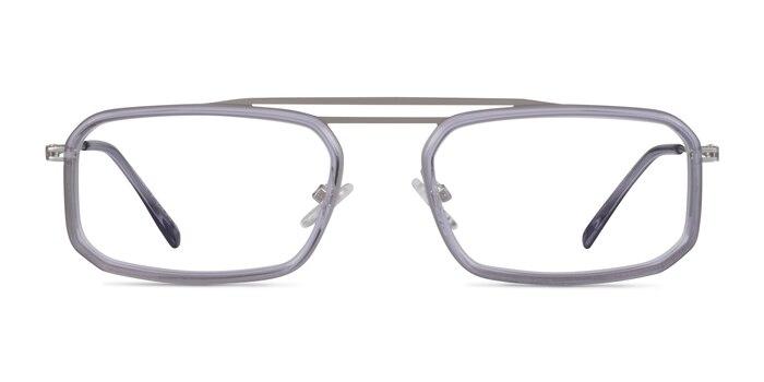 Watson Clear Gray  Silver Acétate Montures de Lunette de vue d'EyeBuyDirect