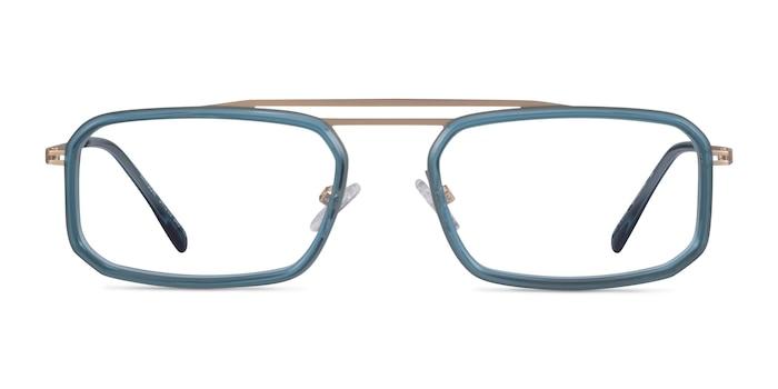 Watson Teal  Gold Acétate Montures de Lunette de vue d'EyeBuyDirect