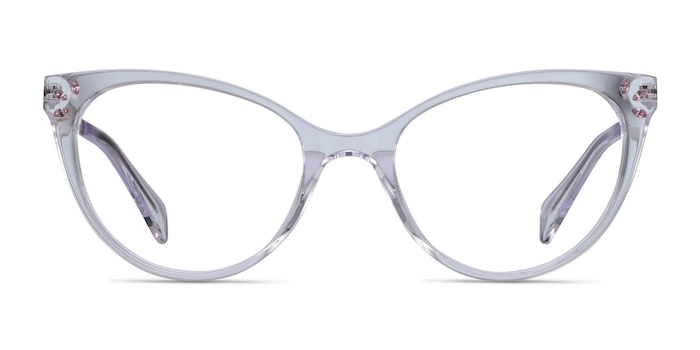 Beauty Transparent Acetate-metal Montures de Lunette de vue d'EyeBuyDirect