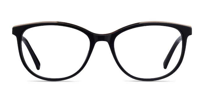 Glam Black Acetate-metal Eyeglass Frames from EyeBuyDirect